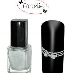 Oja speciala pt matrita ce se aplica cu stampila, Amelie Germania argintie 12 ml