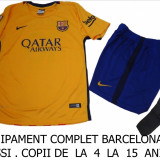 ECHIPAMENTE FOTBAL COPII 4-6 ANI - BARCELONA MESSI-LIVRARE GRATUITA - Set echipament fotbal Nike, Marime: S