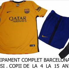 Set echipament fotbal Nike - ECHIPAMENT FOTBAL COPII BARCELONA-MESSI, LIVRARE GRATUITA