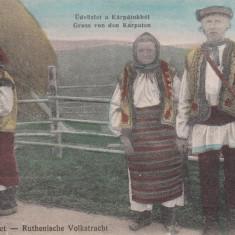GRUSS VON DEN KARPATEN, RUTENI, CIRCULATA 10 ''15 - Carte Postala Bucovina 1904-1918, Printata