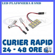 BEC AUTO LED LEDURI PLACUTA PLAFONIERA - 8 SMD - SOFIT FESTOON C5W C10W T10 W5W - Led auto ZDM, Universal