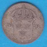 (1) MONEDA DIN ARGINT SUEDIA - 10 ORE 1919, Europa