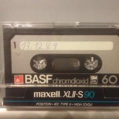 Casete Audio BASF CHROMDIOXID SM 60 min - IEC II - made in W.GERMANY - Casetofon