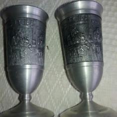 Metal/Fonta, Cupe - Doua pahare vin cu blazon