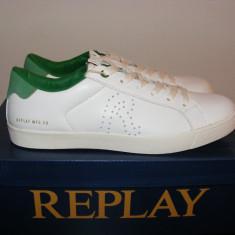 Adidasi Replay Mr Murray Mens Trainers nr. 40 42 43 44 - Adidasi barbati Replay, Culoare: Alb, Piele naturala