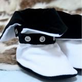 Cizmulite botez Micul Muschetar (Culoare: negru, Lungime talpa: 10 cm)