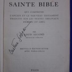 La Sainte Bible - Louis Segond 1931 / R4P3S - Biblia