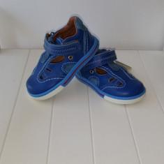 Sandale copii - Sandale piele baieti Blue 404 (Culoare: albastru, Marime incaltaminte: 24)