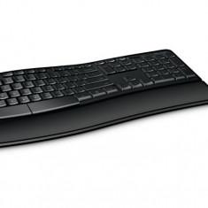 Kit Tastatura + Mouse Microsoft Sculpt Comfort Desktop, USB, negru, L3V-00021, Ergonomica, Fara fir