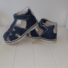 Sandale copii - Sandale piele baieti Andromeda (Culoare: alb/ bleumarin, Marime incaltaminte: 22)