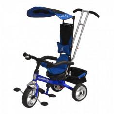 Tricicleta copii - Tricicleta multifunctionala Scooter 118 Albastru DHS