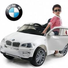 Masinuta electrica copii - Masinuta BMW X6 cu acumulator si telecomanda pentru copii Alb Ramiz
