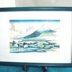 Originala cromolitografie japoneza Ukiyo-e - cca 1930 - Katsushika Hokusai Japan