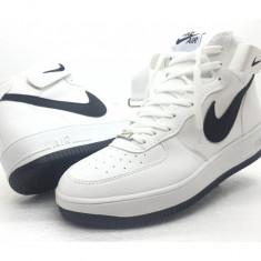 Adidasi dama Nike, Piele sintetica - Adidasi unisex gheata NIKE AIR FORCE ONE ALB cu Negru marimea 41