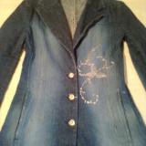 PARDESIU BLUGI DE DAMA, firma FOGGI AUTHENTIC ( marimea 34 ) - Palton dama FOGGI, 32/34, Albastru