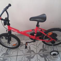 Bicicleta copii, 20 inch, 16 inch, Numar viteze: 1 - Vand bicicleta pentru COPII Btwin DECATHLON cu roti de 16