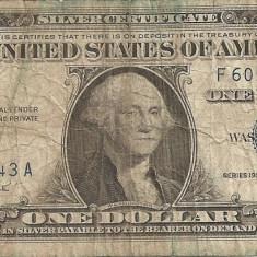 SUA USA 1 DOLAR DOLLAR 1957 A U - bancnota america