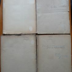 4 caiete din 1920 - 1921, olografe, din care 3 ale Prof. Univ. Al. Codarcea - Autograf