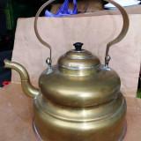 Ceainic vechi decorativ din alama si cupru - dimensiuni mari - Metal/Fonta