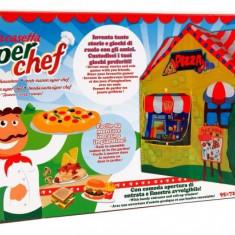 Casuta copii - Cort pentru copii de joaca pentru interior sau exterior Casuta Chef Pizza