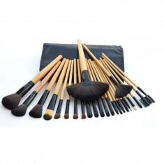 Pensula make-up - Set 24 pensule profesionale din par natural, pentru machiaj