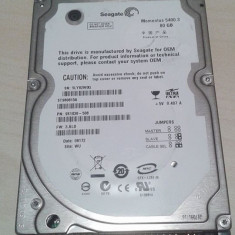 Hard-Disk / HDD laptop Seagate IDE 80GB 5400rpm st980815a, 41-80 GB, Rotatii: 5400, 8 MB