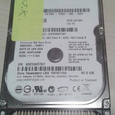 Hard-Disk / HDD laptop Western-DIgital IDE 80GB 5400rpm wd800ve, 41-80 GB, Rotatii: 5400, 8 MB