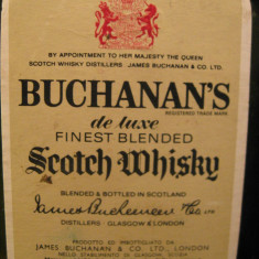 whisky  buchanan's, 12 years, finest blended scotch whisky, cl. 75 gr.43 ani 60