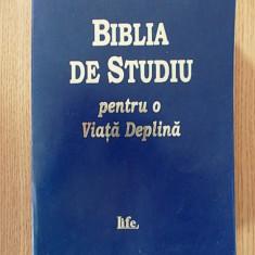 BIBLIA DE STUDIU PENTRU O VIATA DEPLINA, versiunea D. Cornilescu, 2000