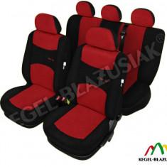 Husa Auto - Set huse scaune auto SportLine Rosu pentru Opel Astra F Astra G Astra H