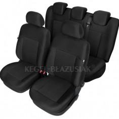 Husa Auto - Set huse scaun model Poseidon Negru pentru Hyundai i10 pana la 2013, set huse auto Fata + Spate