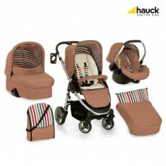 Carucior copii 3 in 1 Hauck, Rosu - Carucior 3 in 1 Lacrosse All in One Hauck Stripe Toast