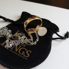 Inel / Pandantiv Lord Of The Rings Placat Cu Aur 18k - Inel placate cu aur