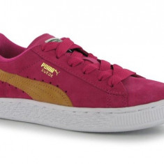 Puma Suede Rose : Nr. 34.5 = 21 cm - Piele Intoarsa - Adidasi copii Puma, Fete