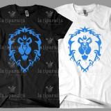 Tricou Personalizat WoW Alliance - Tricou barbati, Marime: XS, S, M, L, XL, XXL, XXXL, Culoare: Alb, Negru, Maneca scurta, Bumbac
