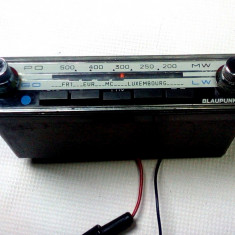 Radio auto vechi 1970 Blaupunkt mic Colmar 7630075 f.rar este functional - Aparat radio