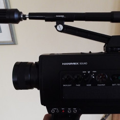 Camera video vintage HANIMEX SOUND 800 + microfon telescopic Hanimex + geanta - Aparat Filmat