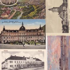 LOT 5 CARTI POSTALE BRASOV, HALCHIU, SEMEDRIA, Ambele, Printata, Romania 1900 - 1950