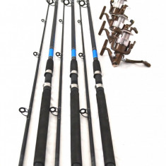 Set de 3 lansete OXYGEN SELECT 2, 7M actiune 60-120g cu NF 5000 cu 6 rulmenti - Lanseta