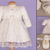 Set botez Baby Lace (Imbracaminte pentru varsta: 12-18 luni - 84 cm)