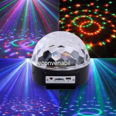 Lumini club - Glob Disco Jocuri de Lumini cu MP3 Player si Telecomanda