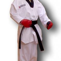 Dobok - ribbed* Polyeste 65%/bumbac 35%*Alb*160 cm - Taekwondo