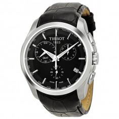 Ceas barbatesc Tissot Couturier GMT ecran negru, Lux - sport, Quartz, Inox, Cronograf, Analog