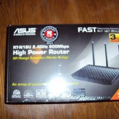 Router Wireless ASUS Gigabit RT-N18U N600, USB 2.0, USB 3.0, negru, Port USB, Porturi LAN: 4, Porturi WAN: 1
