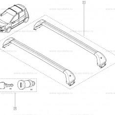Bare Portbagaj Renault Modus 2004-, set 2buc bare transversale originale 7711223650 - Bare Auto transversale
