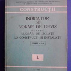 Indicator norme deviz izolatii si instalatii / C6P - Carti Constructii