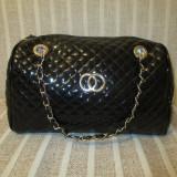 Geanta dama mare neagra lucioasa Gucci+CADOU, Culoare: Din imagine