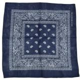Bandana - floral albastru bleomarin
