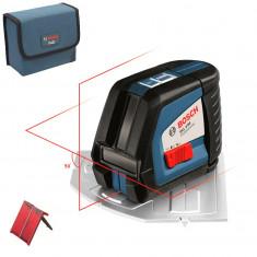 BOSCH GLL 2-50 Nivela laser cu linii + Placa aliniere (20 m) 0601063104