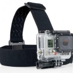 Curea elastica de montat pe cap GP23 compatibila cu iUni SJCAM si GoPro Hero 1, 2, 3, 3+ & 4 - Camera Video Actiune